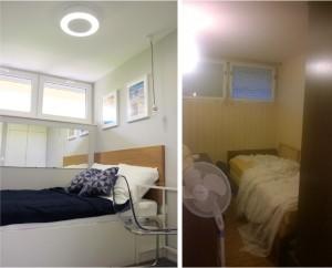 Spavaća soba prije i poslije