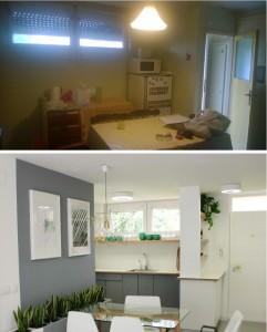 Kuhinja prije i poslije
